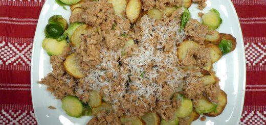 Spansk potatissallad med tonfisk och parmesan