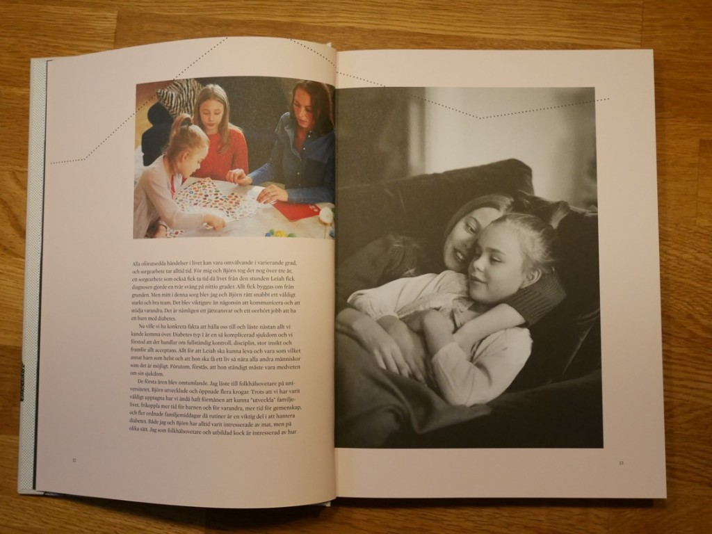 Dottern Leiah som fick diagnosen diabetes typ 1 vid tre års ålder.