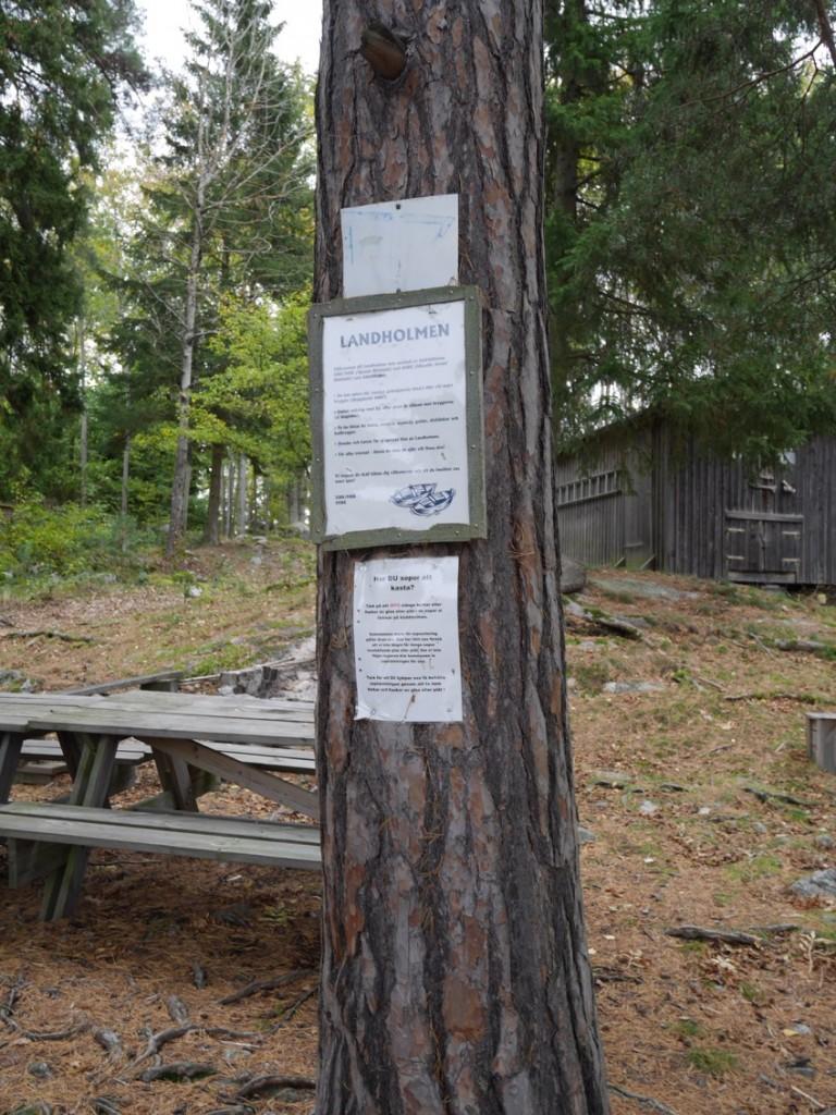 Information till de som ankrar vid Landholmen.