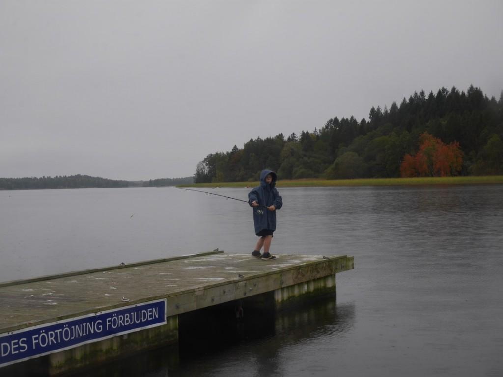 Lite fiske i ovädret!