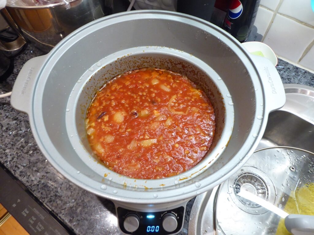 Soppan har gått klar och är redo att mixas.