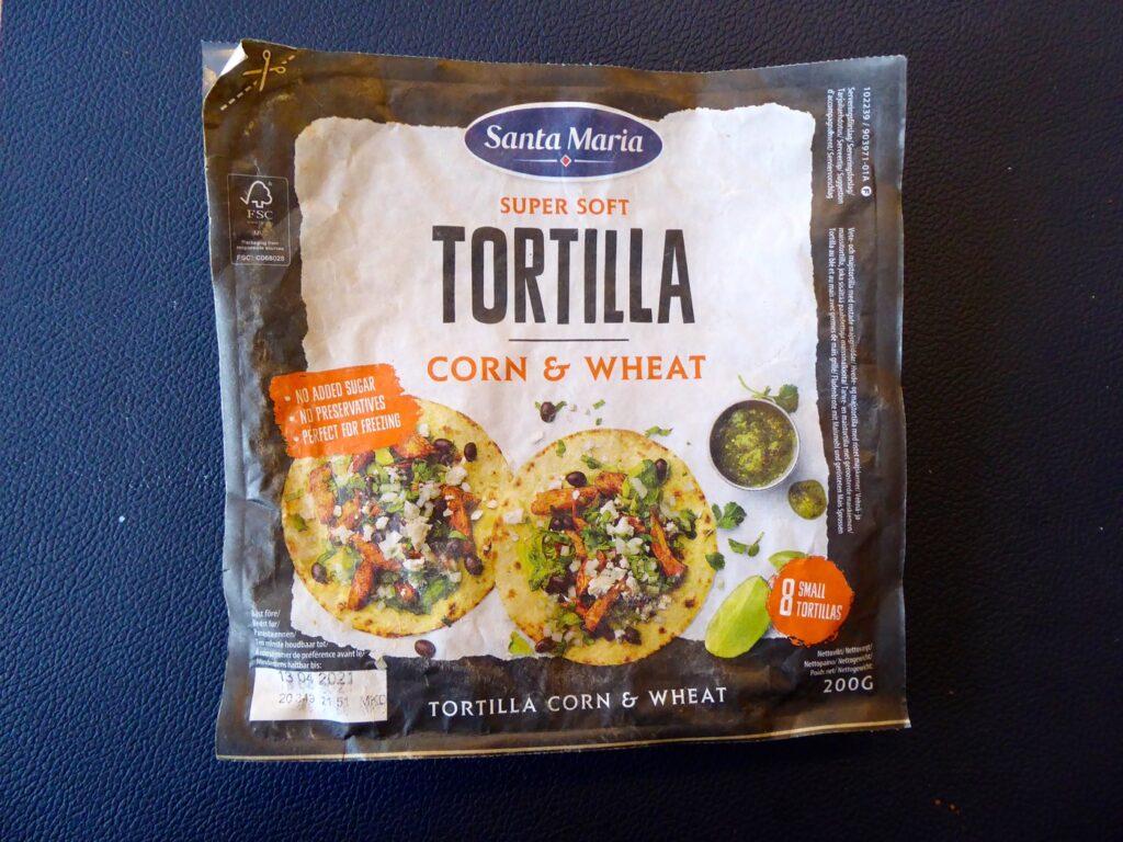 Super soft tortilla corn & wheat.