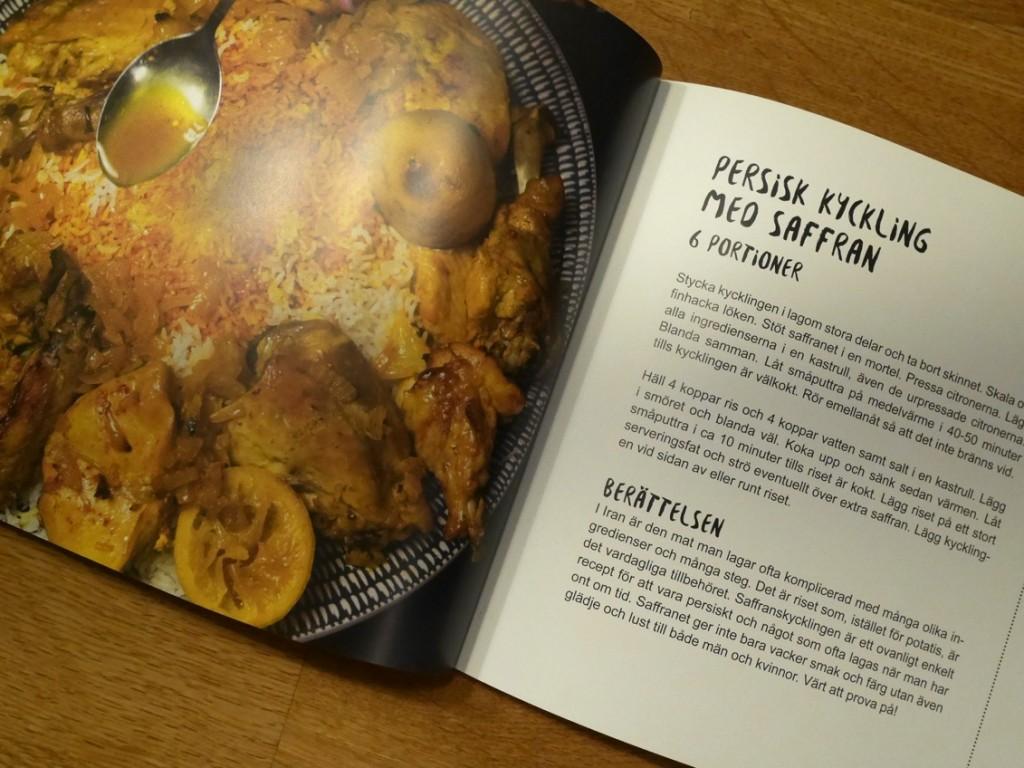 Persisk kyckling med saffran.