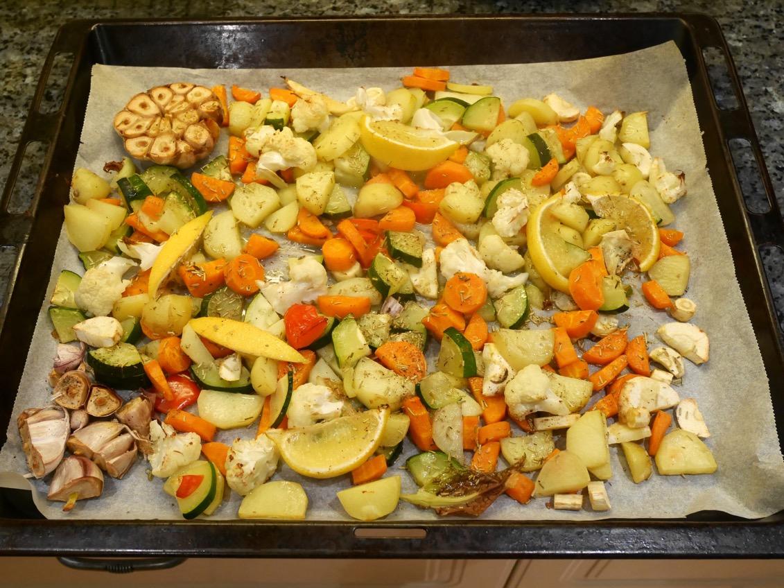 vegetarisk mat i ugn