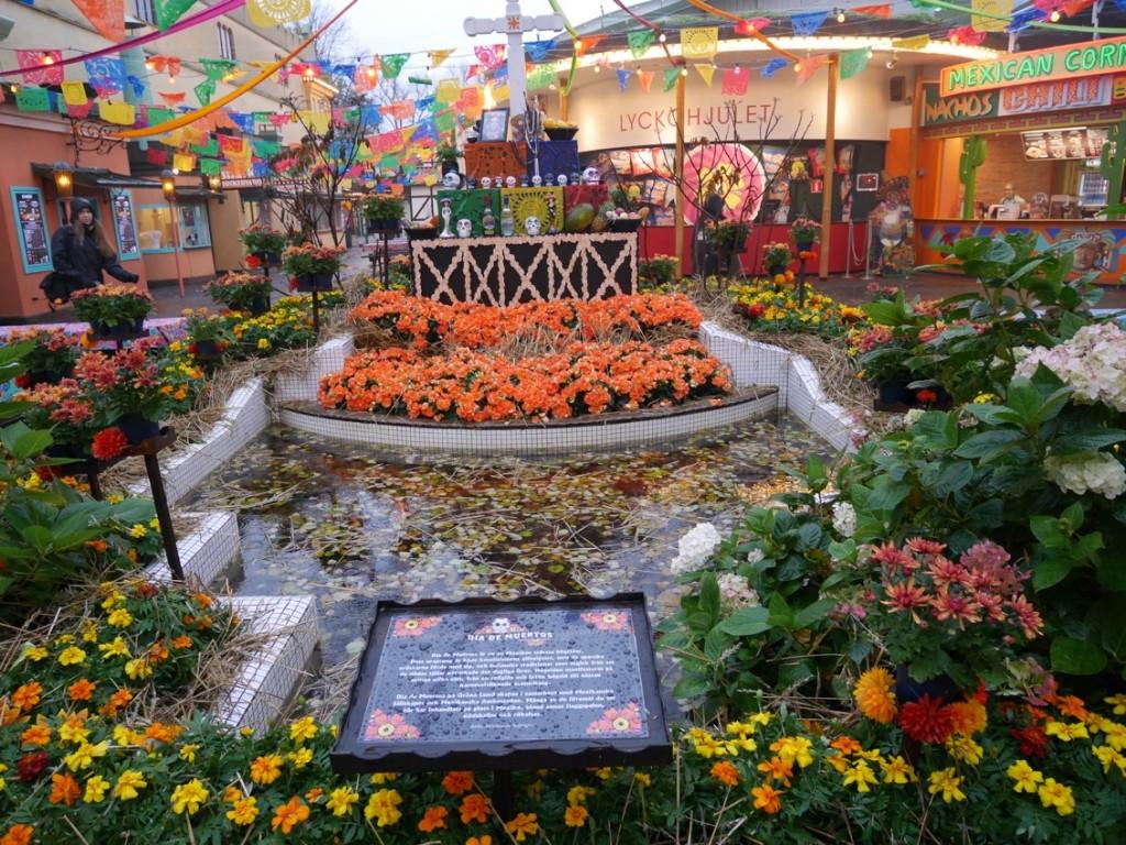 Altare vid Dia de Muertos.