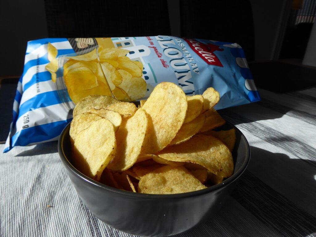 Chips med smak av halloumi