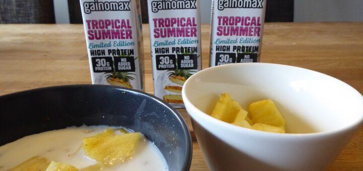 Mjölkbaserad proteindrink med riktigt bra innehåll och smak av ananas, kokos och lime.