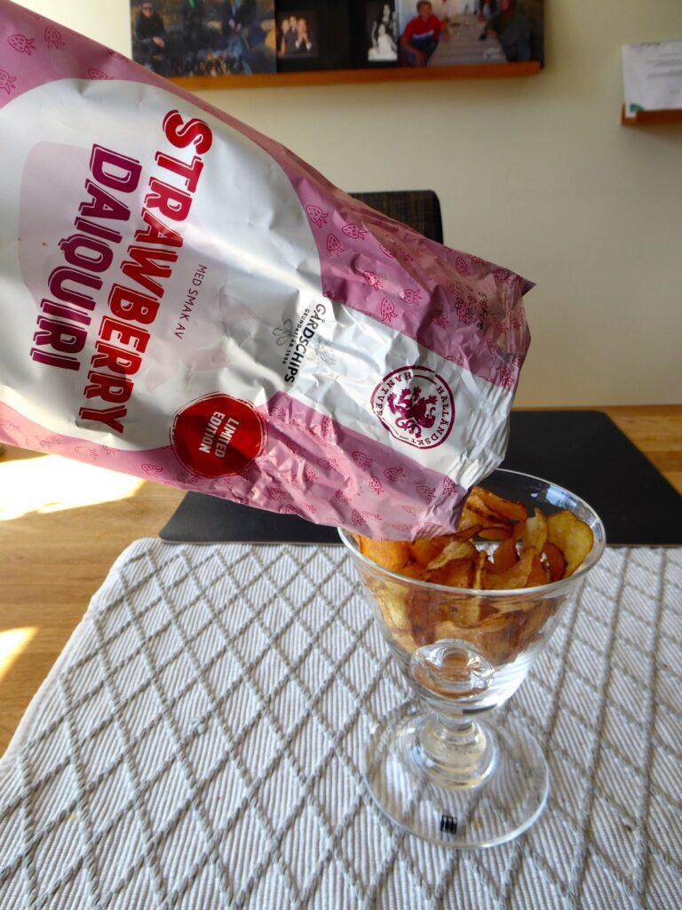 Chips med smak av strawberry daiquiri.