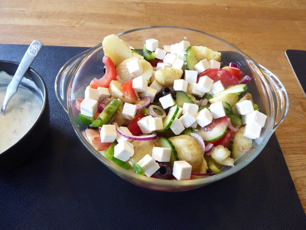 Grekisk potatissallad