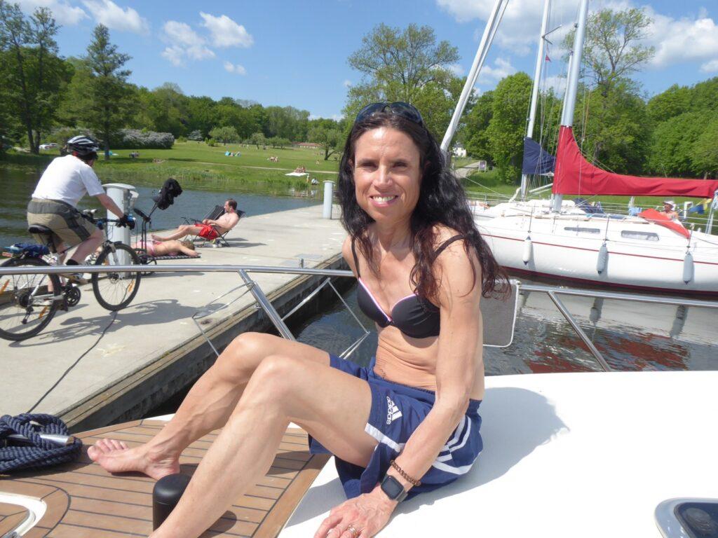 Underbart att ha båt när vädret visar sig från sin bästa sida!