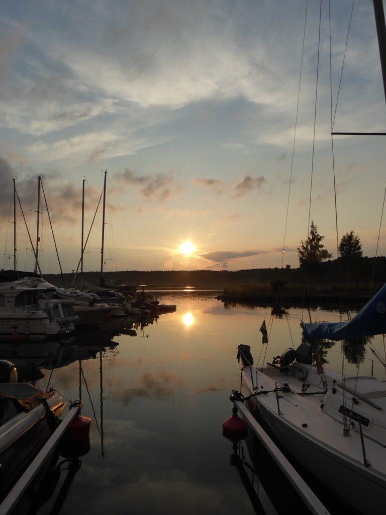 Solnedgång på Dalarö.