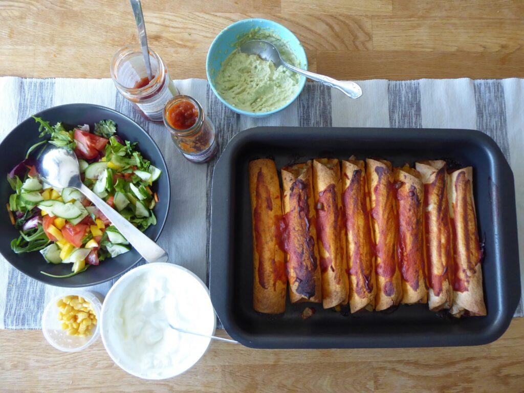 Enchiladas med kycklingfärs