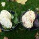 Majskakor med rotfruktsbitar och grönsaker från höstens skörd.