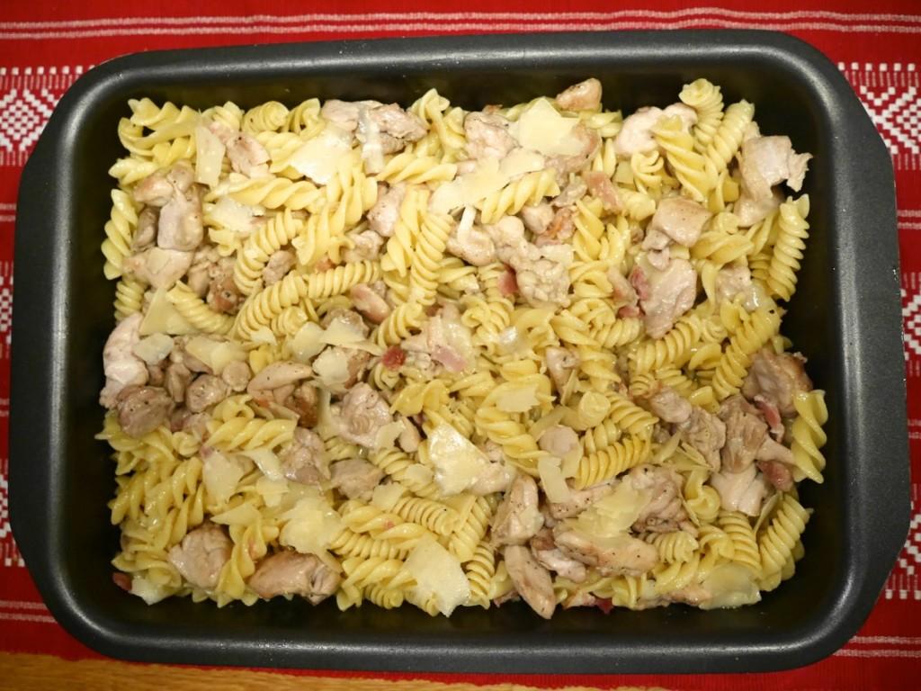 Kyckling med bacon och parmesanost
