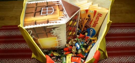 Leverans till bygget av Årets chokladhus 2017