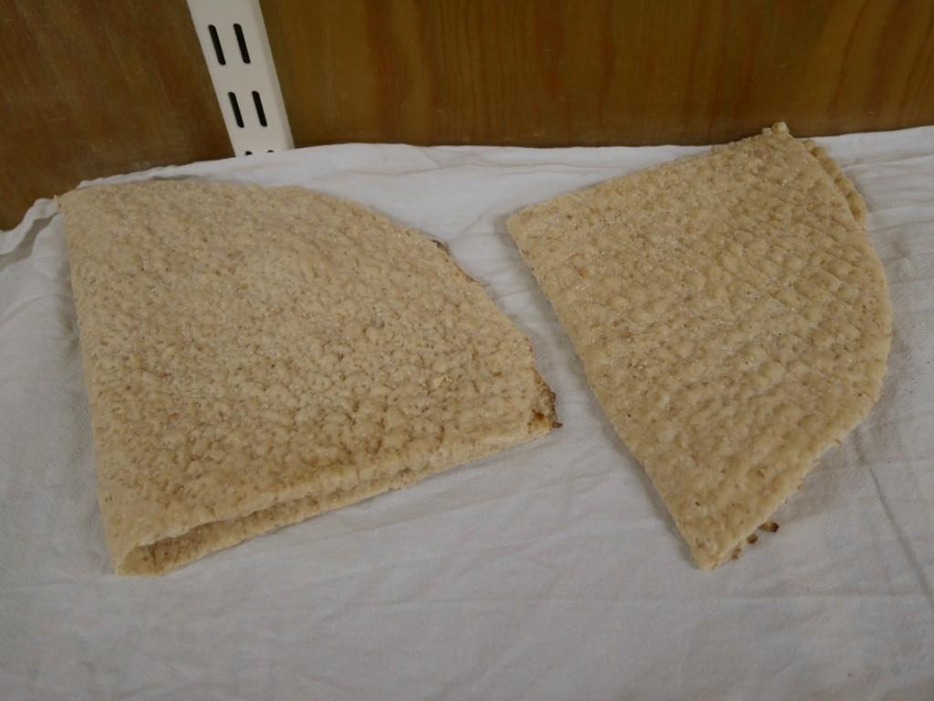 Färdiga brödkakor.