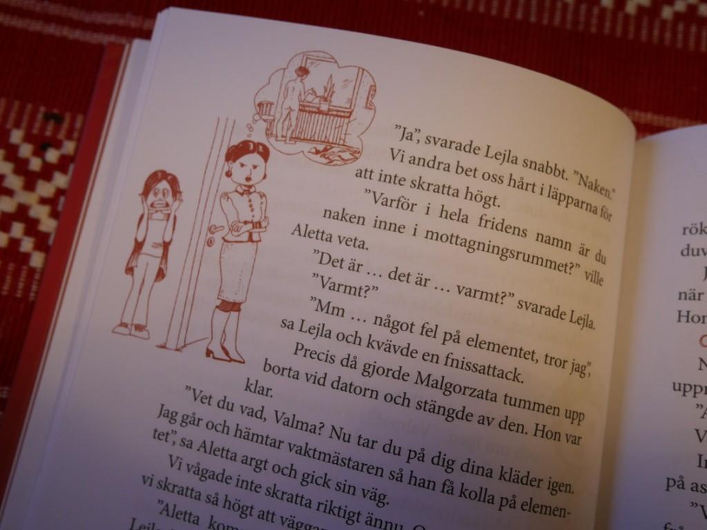 lättläst bok med roliga, tillhörande illustrationer.