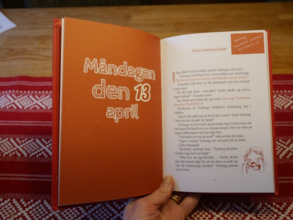 En bok skriven i dagboksformat.