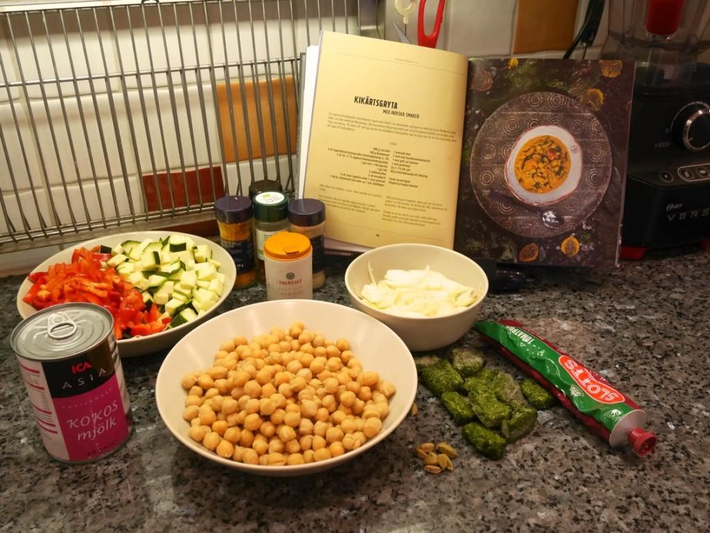 Kikärtsgryta med indiska smaker i Crock Pot