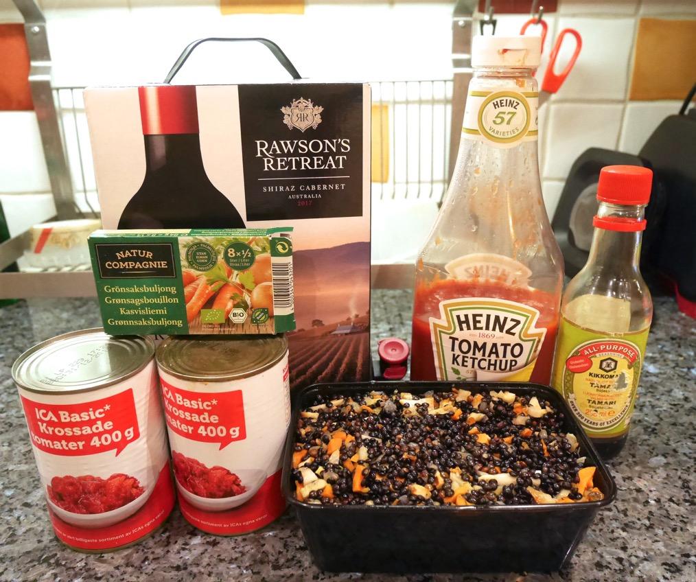 Nu ska jag laga till vegetarisk bolognese i Crock Pot