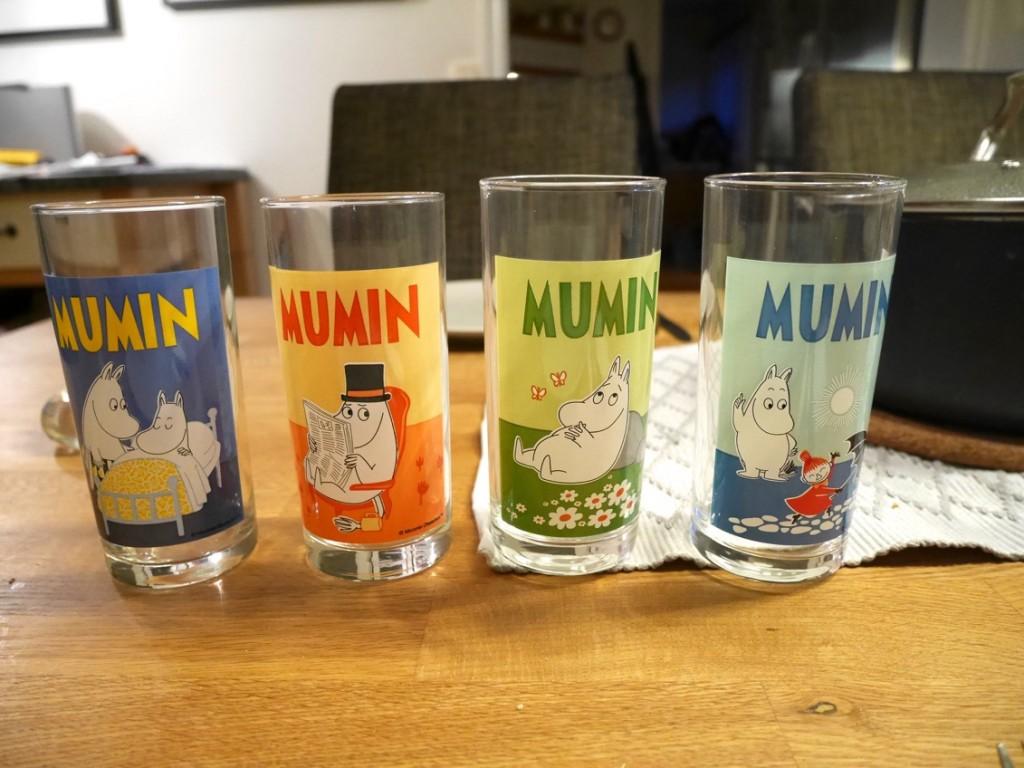 Nya glas med Muminmotiv hos Max