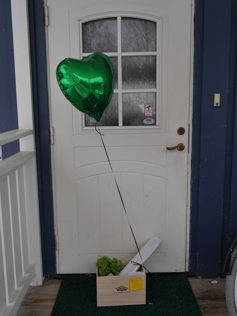 Vem blir inte glad av att mötas av en grön ballong?!