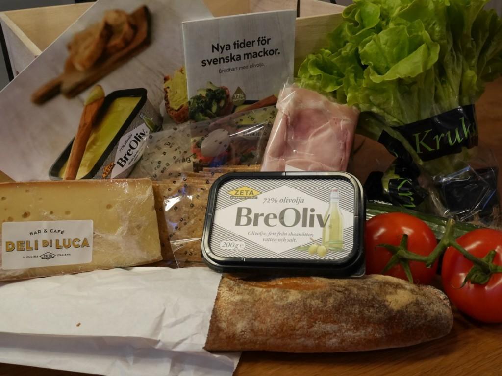 BreOliv och massa fina delikatesser från DeliDiLuca och Gateau.