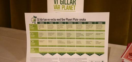 Förslag på en One Planet Plate-vecka.