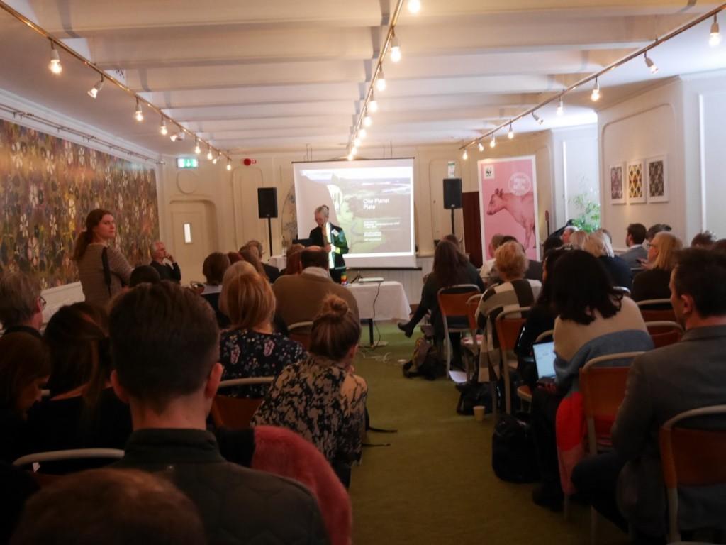 Presentation av måltidskonceptet One Planet Plate och Matkalkylatorn, Anna Richert, matexpert WWF