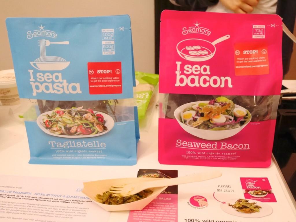 Algbacon och tångpasta från Seamorefood.