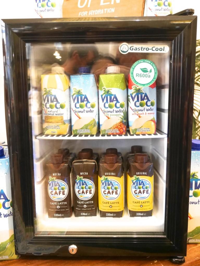 Olika typer av smaksatta kokosvatten från Vita Coco.