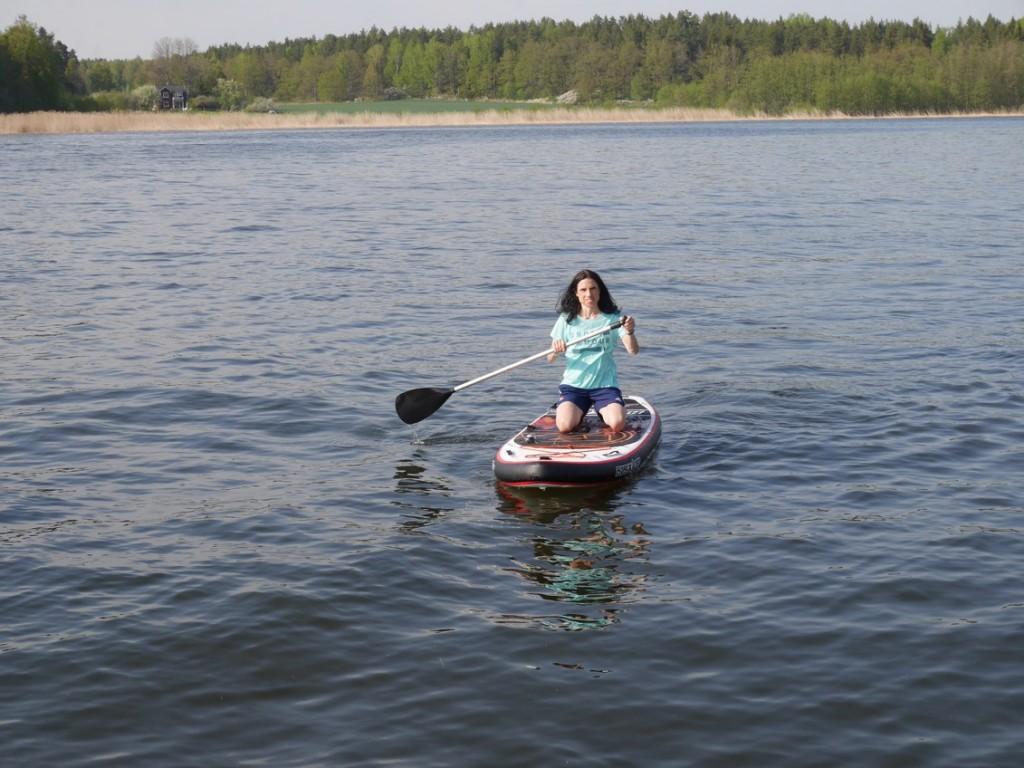 Första testandet av vår Stand up paddleboard.