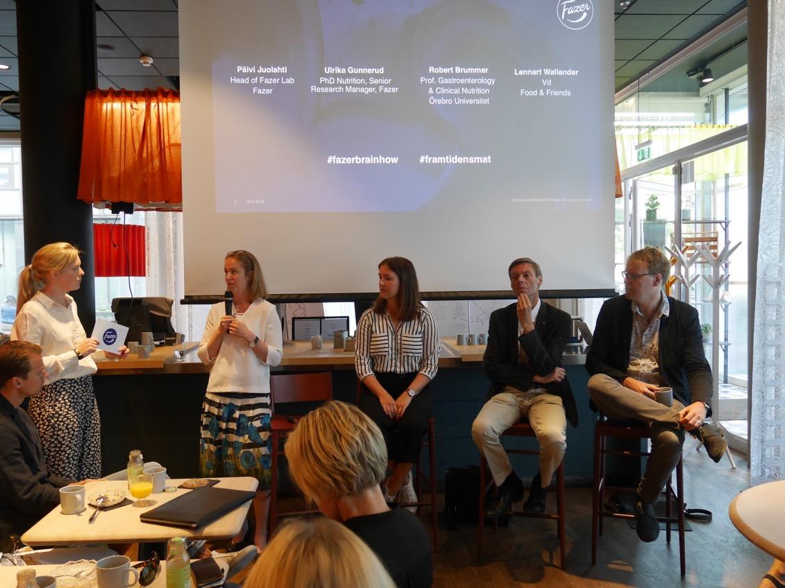 Forskare, trendanalytiker och representanter från Fazer i spännande samtal kring framtidens mat.