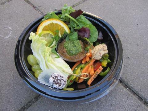 Mat från Rawfood-truck