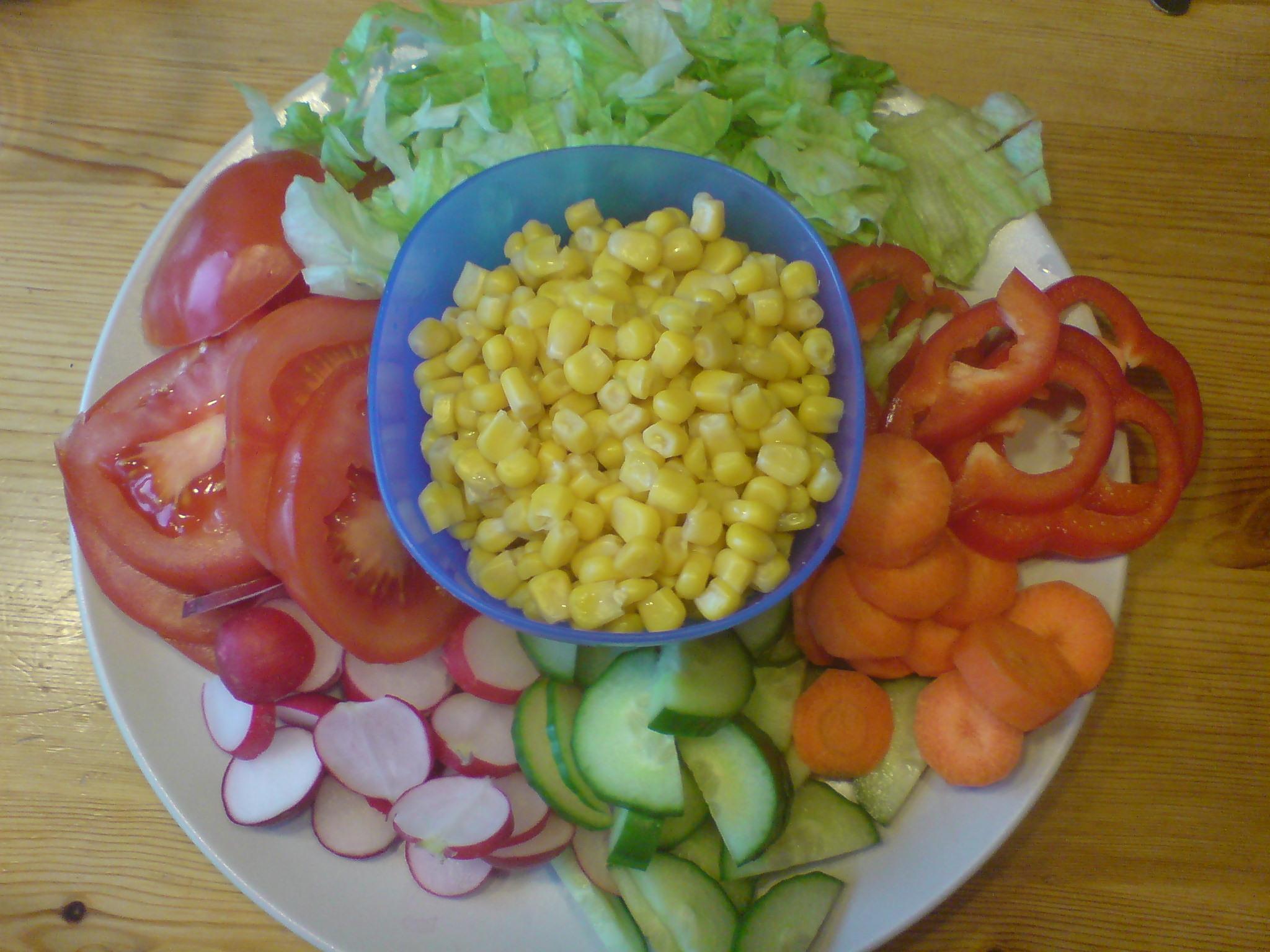 Poppis grönsakstallrik