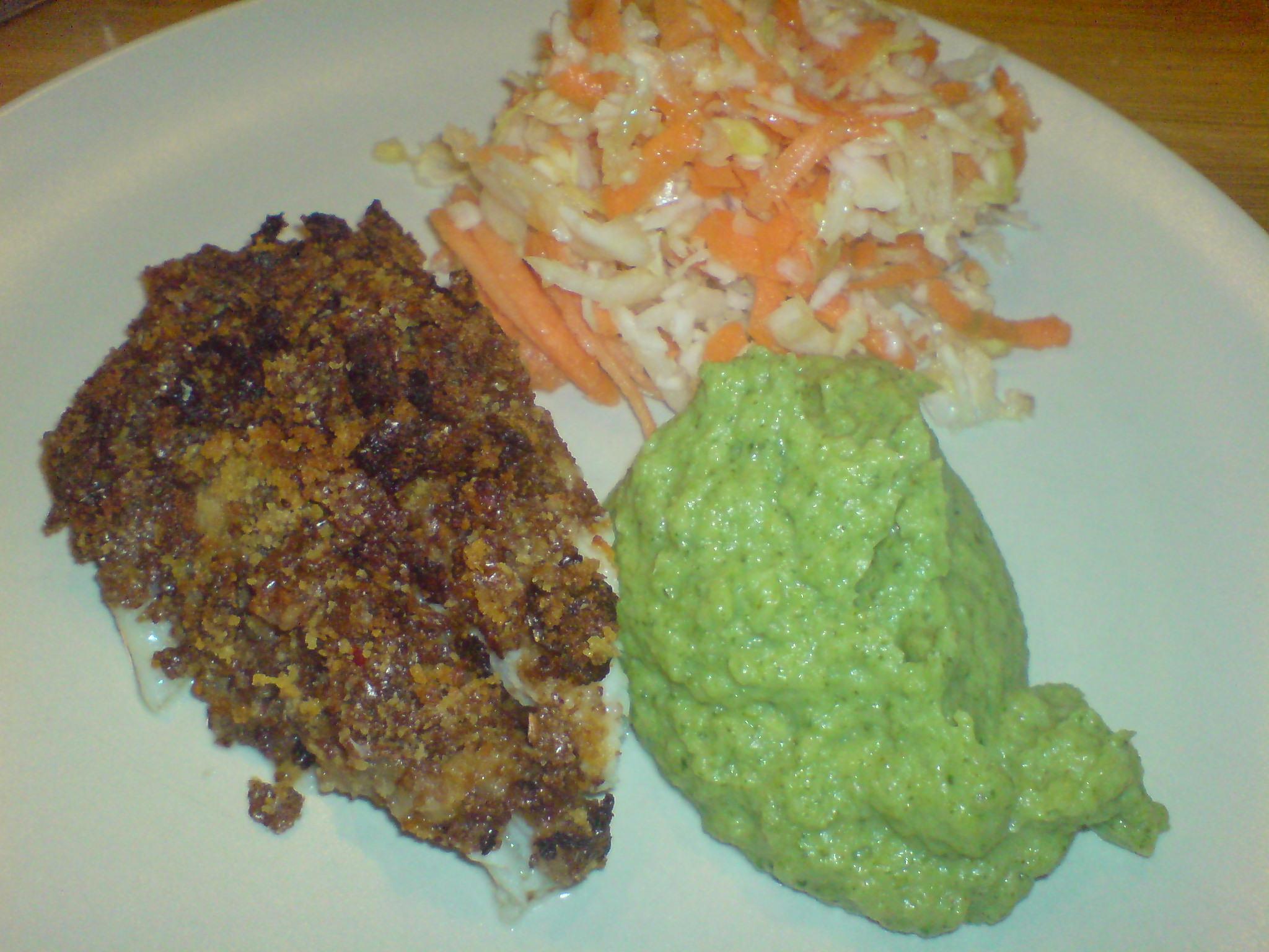 Fisk och broccolimos