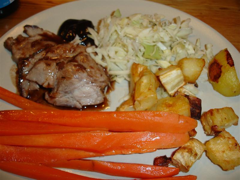 Klassisk söndagsmiddag, nämligen stek