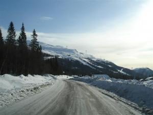 Underbar dag med slalom och snowracer på fjället