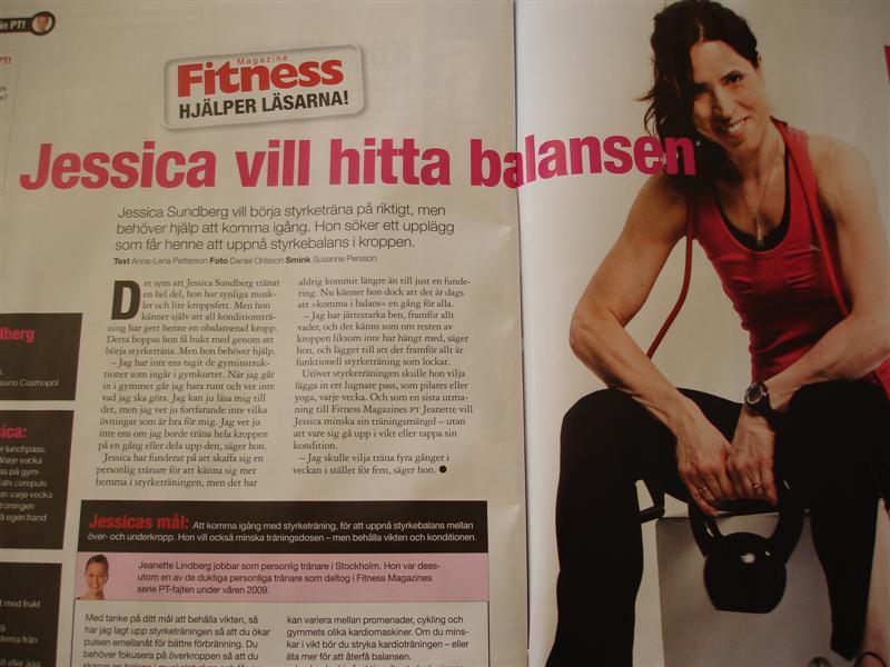 Artikel i Fitness Magazine nr 9