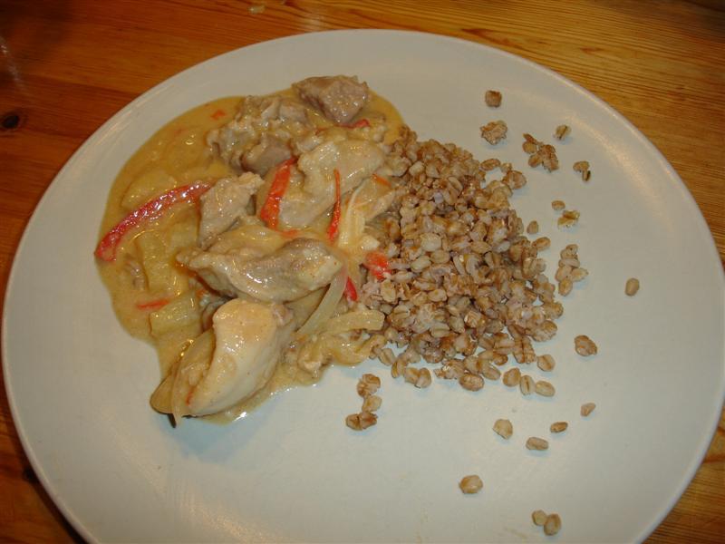 Kycklinggryta och matkorn