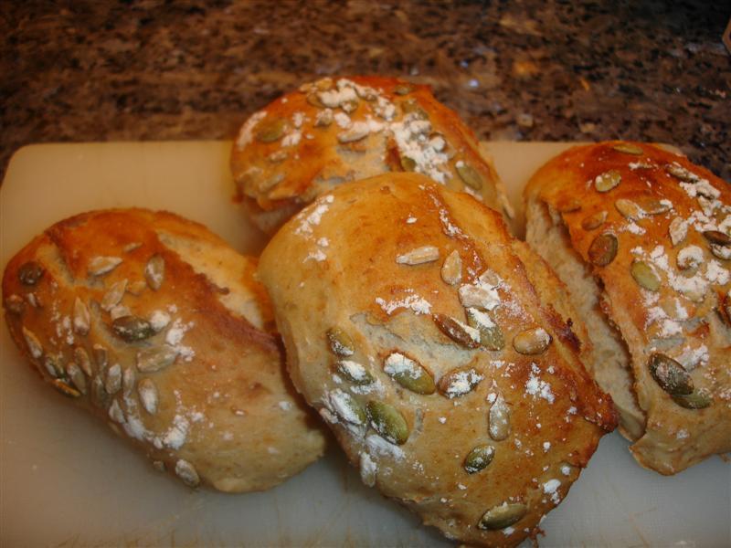 Underbara morgon med nybakat bröd efter löprundan