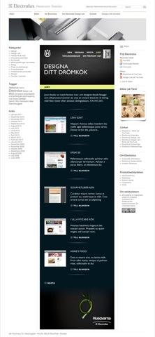 Kampanjsidan under utveckling