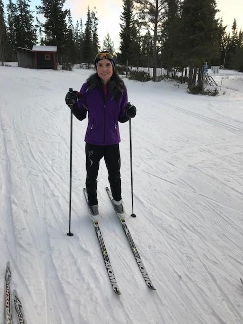 Jag älskar att åka längdskidor!