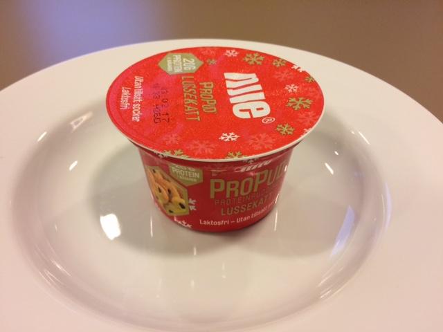 Ljuvlig start med ProPud Proteinpudding lussekatt