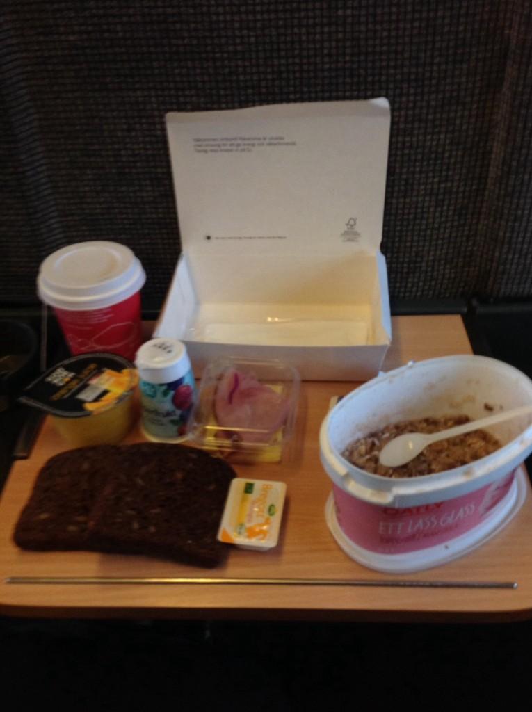 Frukost på tåget