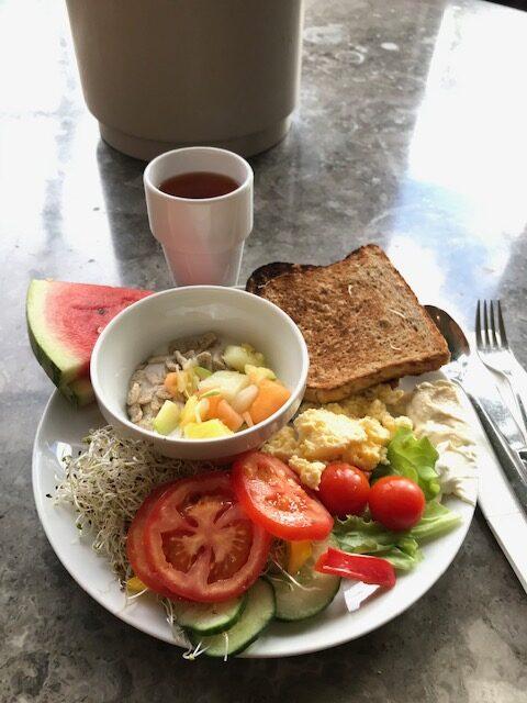 Riktigt fin och lyxig frukostbuffé!