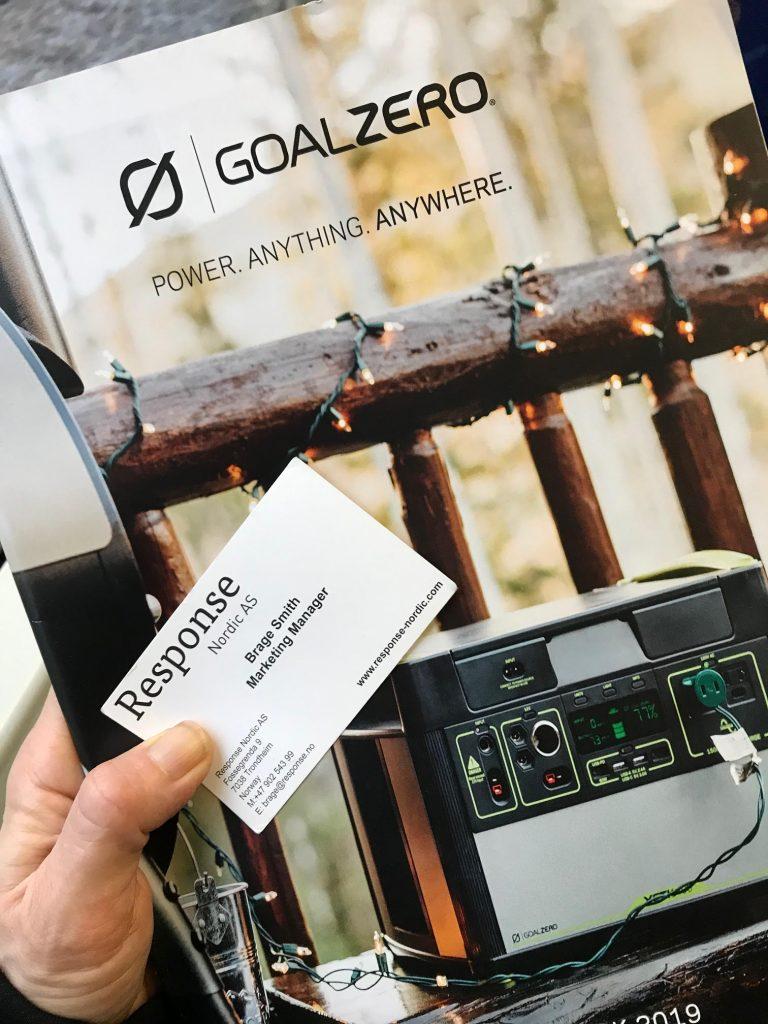 Goal Zero, perfekt för strömförsörjning, tex till havs.